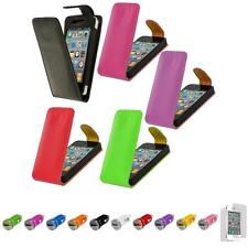 For iPhone 4S 4 Wallet Leather Holder Flip Pouch Case Cover+Car Charger+LCD