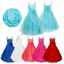 Flower Girls Kids Princess Party Pageant Wedding Bridesmaid Ball Gown Dresses
