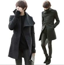 Mens Fashion Autumn/Winter Slim Fit Trend Dust Jacket Windbreaker parka Coat
