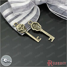 50PCS 28*8MM Alloy Skull key Charms Pendants Jewelry Findings Accessories 20649