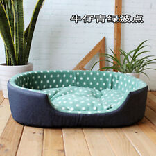 Pet Dog Puppy Cat Warm Bed Plush Cozy Nest Kennel Mat Soft Fleece Dog Bed