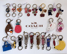 AUTHENTIC Coach Enamel Leather Key Ring Fob Key Chain Charm NEW w/Tag Dustbag