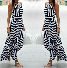 Women Fashion Beach Dress Long Sexy Summer Dress Evening Party Maxi Sundress