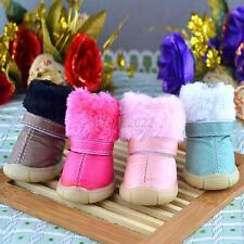 New Dog Cat Boots  Pet Puppy Shoes Winter Warm Fur Booties 4 Colors XS-XL