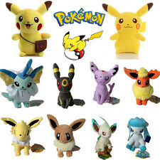 Anime Pokemon Pikachu Eevee Plush Soft Toy Animal Figure Stuffed Doll Collection