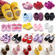 Lovely Baby Girls Soft Sole Princess Pram Shoes Toddler Crib Trainers Prewalkers