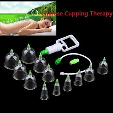 6/12Cups Chinese Body Cupping Massage Set Acupuncture Medical Vacuum DE