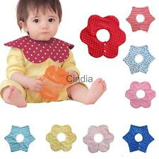 Toddler Infant Baby Bibs Boys Girl Saliva Feeding Nursery Towel Flower Pinny