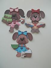3D - U Pick - Puppy Cake Pie Dog Baking Eggs Scrapbook Card Embellishment 358
