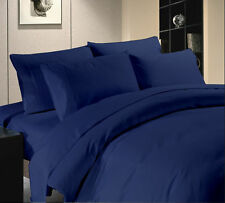 Scala Bedding 600 800 TC Navy Blue Solid 'UK' Bedding Collection 100% Cotton