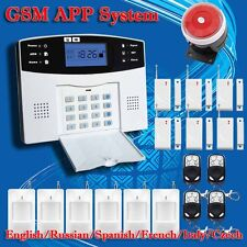 Wireless GSM Alarm system Home security Alarm systems LCD Keyboard Sensor