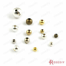3~8MM Iron Brass Round Beads Spacer Beads Jewelry Findings Accessories 2596