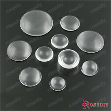 22~50MM Clear Glass Round domed Cabochons beads Findings Accessories 22100