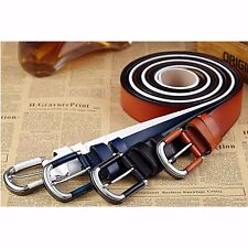Fashion Men's Casual Wide Leather Belt Strap Pin Metal Buckle Waistband #AU