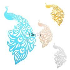 50x Place Name Cards Peacock Pattern Glass Wedding Party Table Decorations