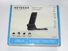NETGEAR N300 Wireless USB Adapter with Cradle Work and Play WNA3100