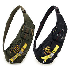 Nylon Men Sling Chest Bag Tactical Military Cross Body Messenger Shoulder Pack