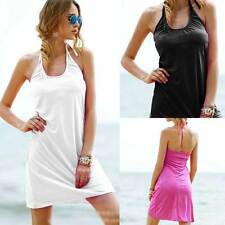 Summer Sexy Women Swimwear Suit Halter Bathing Bikini Cover Up Cape Beach Dress