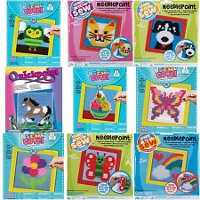 Children's Kid's Learn to Sew Kitty Cat Dog Owl Horse Flower Needlepoint Kit Set