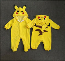 Newborn Infant Baby Boys Girls Pikachu Outfit Jumpsuit Rompers Playsuit Clothes