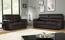 PORTMAN Brown Leather Sofa Sofas Couch Settee