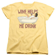 BOBS BURGERS WINE HELPS Licensed Women's Graphic Tee Shirt SM-2XL