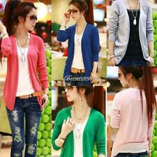Women Lovely Irregular Hem Casual Tops Knit Sweater Cardigan Jacket Coat BF9