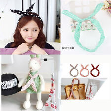 Trendy Women Lady Girl Headband Ribbon Rabbit Bunny Ear Scarf Bow Tie Hair Band