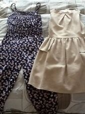 girls dress and playsuit from debenhams both aged 9 years