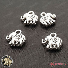 50PCS 12*8MM Alloy Elephant Charms Pendants Jewelry Findings Accessories 23100