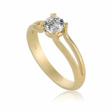 Engagement Ring Diamond 0.3 CT F Si1 Solitaire 14K White Gold Size 6 Enhanced
