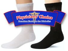 12 Pairs Physicians Choice Diabetic No-Slip Stretch Fit Crew Socks for Men/Women