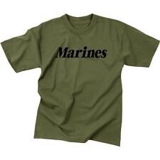 US Marine Corps Marines Olive Drab OD Green T-Shirt USMC PT Physical Training