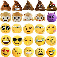 Hot Emoji Plush Pillows Cushions Stuffed Poo Monkey Emoticon Toys Home Car Decor