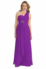 TheDressOutlet Prom Dresses One Shoulder Ruffled Bridesmaids Formal Plus Size