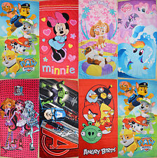Boy Girls Paw Patrol Minnie Pony Monster Bath - Beach - Pool Towel 70 x 145cm