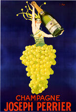 CHAMPAGNE JOSEPH PERRIER vintage Poster print on Paper or Canvas Giclee