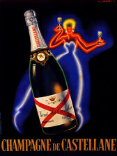 CHAMPAGNE CASTELLANE vintage Poster print on Paper or Canvas Giclee