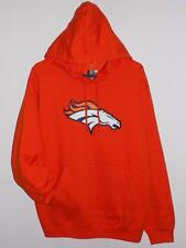 NWT DENVER BRONCOS MENS MAJESTIC TELEPATCH ORANGE HOODIE SWEATSHIRT HOODED