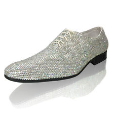 Marc Defang MEN's Groom Celebrity AB Crystal Wedding Shoes