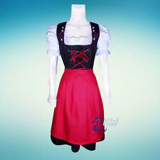 DIRNDL Trachten German Oktoberfest DRESS 3-Piece Long Swing Party Waitress Dress