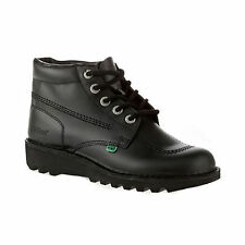 Kickers Kick Hi High Women Ladies Black Boots - Back To School