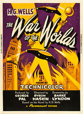 The War of the Worlds II 1953 Vintage Movie Poster