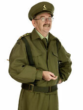 Mens 40s Home Guard Dads Army Costume WW2 Soldier Fancy Dress Uniform Outfit NEW