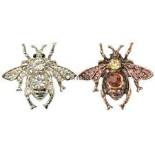 Fashion Women Adorable Honey Bee Brooch Rhinestone Crystal Costume Pin Brooch