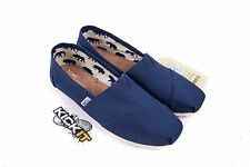 Toms Womens Classic Navy Blue Canvas Slip On 001001B07 Authentic Size 5 - 10