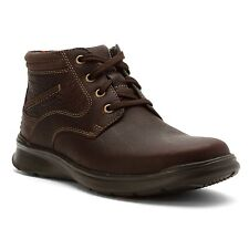 Mens Clarks Cotrell Rise Ankle Lace Up Boot Brown Oily Leather 26119807