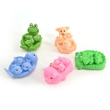 Fantastic Baby Bath Toy Rubber Floating Sounding Animals for Infant Kids Tub