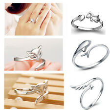 Delicate Silver Plating Ring Finger Fashion Women Ring Opening Adjustable GIFT