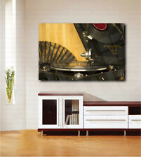 Vintage Turntable Music Art Canvas Poster Print Home Wall Decor